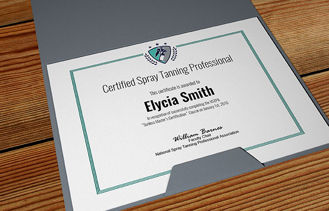 Online Spray Tanning Certification | Professional Sunless Course
